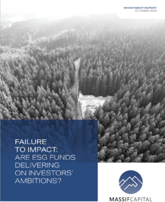 Failure to Impact: Are ESG Funds Delivering On Investors Ambitions?